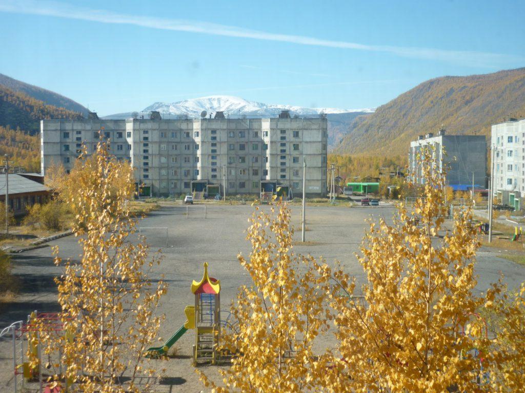 Вид из окна школы